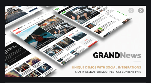 Grand News Magazine Newspaper WordPress theme