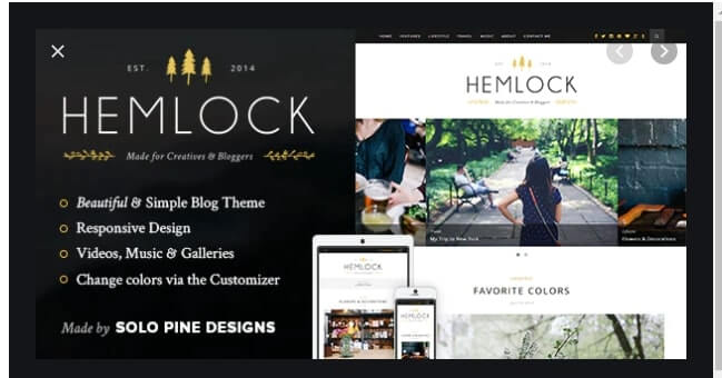 Hemlock Responsive WordPress Blog Theme